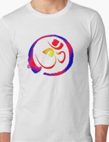 Aum - Om with Enso Zen-circle  Long Sleeve T-Shirt