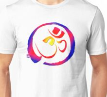 Aum - Om with Enso Zen-circle  Unisex T-Shirt