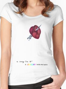 a unicorn broke my heart Women's Fitted Scoop T-Shirt