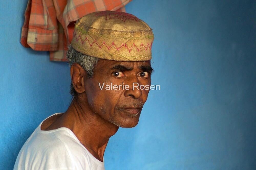 Portrait of a Man in Charminar by Valerie Rosen