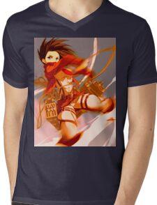 Mikasa Ackerman Mens V-Neck T-Shirt