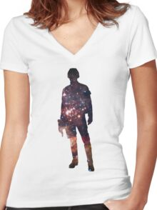 Han Solo Women's Fitted V-Neck T-Shirt