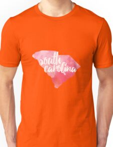 South Carolina - pink watercolor Unisex T-Shirt