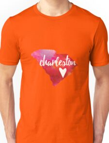 Charleston, South Carolina - pink and red  Unisex T-Shirt