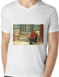 Come Here! You Need Some Hair!  Mens V-Neck T-Shirt