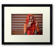 A Lady and her Chai Framed Print