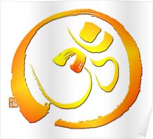 Om - Aum with Enso zen circle Poster