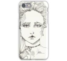 rococo girl, Marie Antoinette iPhone Case/Skin
