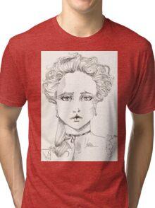 rococo girl, Marie Antoinette Tri-blend T-Shirt