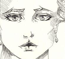 rococo girl, Marie Antoinette Sticker