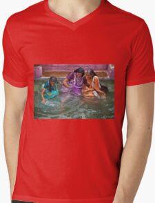 Many Smiles Mens V-Neck T-Shirt