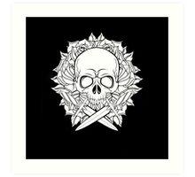 Skull & Daggers Art Print
