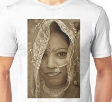 Varanasi Bride in Sepia Unisex T-Shirt