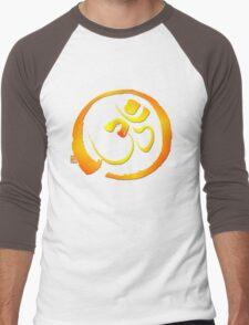 Om - Aum with Enso zen circle Men's Baseball ¾ T-Shirt