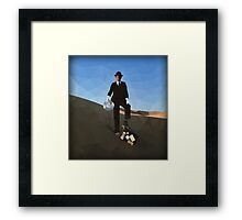 "Pink Floyd ""wish you were here"" - Color Low Poly Framed Print"