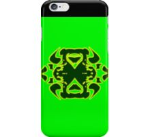 Green Neon Punk Tribal Design iPhone Case/Skin