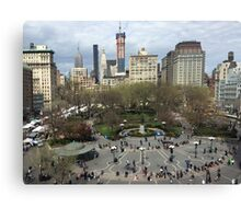 Aerial View, Union Square, New York City Canvas Print