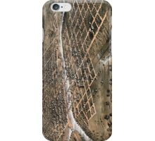 Bird's eye view of the city of Des Moines - Iowa - 1868 iPhone Case/Skin