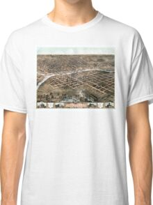 Bird's eye view of the city of Des Moines - Iowa - 1868 Classic T-Shirt