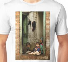 Sister with Brother and Grandmother Unisex T-Shirt