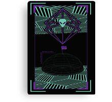 Digital Alien Canvas Print
