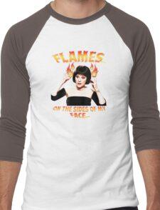 Clue Mrs White Flames Men's Baseball ¾ T-Shirt