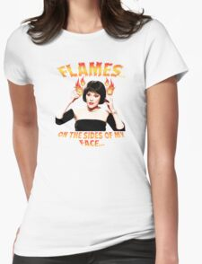 Clue Mrs White Flames Womens Fitted T-Shirt