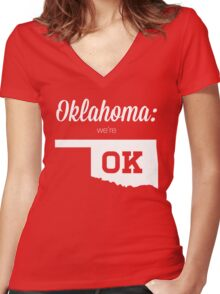 Oklahoma is OK Women's Fitted V-Neck T-Shirt