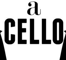 It's a cello Sticker