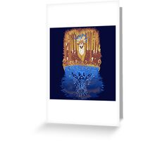 Autumn Forest Spirit  Greeting Card