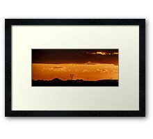 Moody Sunset, Free State, South Africa Framed Print