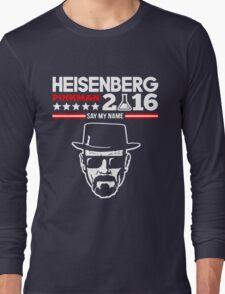 HEISENBERG PINKMAN 2016 SAY MY NAME Long Sleeve T-Shirt