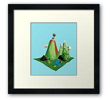 Low poly Landscape Framed Print