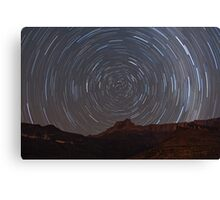 Star Trail - Drakensberg, South Africa Canvas Print