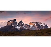 Sunset - Torres del Paine, Patagonia Photographic Print