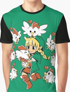 Linkle the Cucco Queen  Graphic T-Shirt