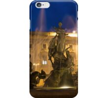 Syracuse, Sicily Blue Hour - Fountain of Diana on Piazza Archimede iPhone Case/Skin