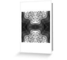 Modern Black and White Speckles and Swirls Greeting Card