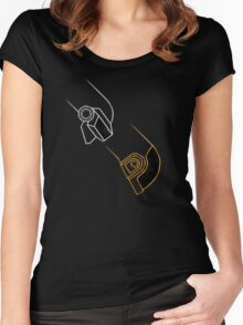 Daft Punk The Duo Women's Fitted Scoop T-Shirt