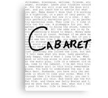 Cabaret Pop Canvas Print