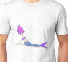 Cute cartoon mermaid in vivid colors  Unisex T-Shirt