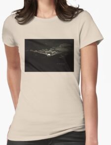 Gibbous Moon Womens Fitted T-Shirt