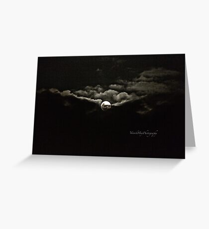 Gibbous Moon Greeting Card