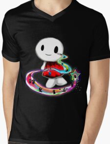 Tear Triping Mens V-Neck T-Shirt