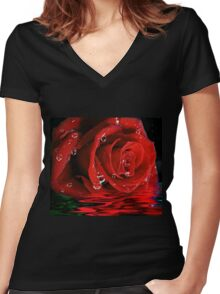 Tears of Love Women's Fitted V-Neck T-Shirt
