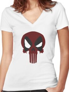 DEAD PUNISHER Women's Fitted V-Neck T-Shirt