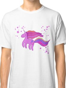 Cute cartoon unicorn in pink colors Classic T-Shirt