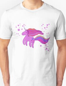 Cute cartoon unicorn in pink colors Unisex T-Shirt