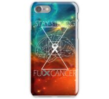 Fuck Cancer // Galaxy // White Font // Brain Cancer iPhone Case/Skin