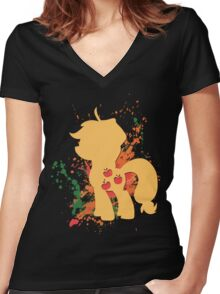 Applejack Women's Fitted V-Neck T-Shirt